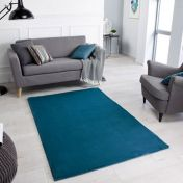 Comfy Teal Plain Shaggy Rug by Oriental Weavers