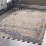 Cosimo Distressed Blue Grey Abstract Rug by Origins