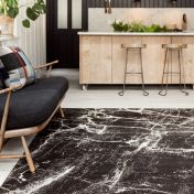 Cosmos 02 Black Marble Rug by Asiatic