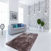 Cosy 110 Silver Plain Shaggy Rug by Unique Rugs