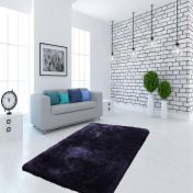 Cosy 410 Blue Plain Shaggy Rug by Unique Rugs