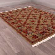 Country House Trellis Traditional Runner by HMC