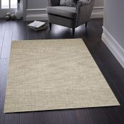 Country Tweed Oyster Plain Wool Rug by Origins