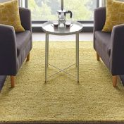 Country Tweed Autumn Gold Plain Wool Rug by Origins