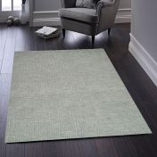 Country Tweed Sea Mist Plain Wool Rug by Origins