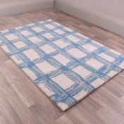 CRETE Blue Fusion Wool Rug by Prestige