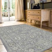 Da Vinci 057 0125 4646 Blue Grey Traditional Rug by Mastercraft