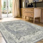 Da Vinci 057 0128 4696 Blue Beige Traditional Rug by Mastercraft
