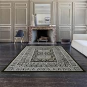 Da Vinci 057 0147 3636 Black Silver Traditional Rug By Mastercraft