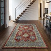 Da Vinci 057 0163 1454 Red Traditional Rug By Mastercraft
