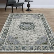 Da Vinci 057 0559 9686 Blue Grey Traditional Runner by Mastercraft