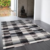 Deco Graphite Striped Rug By Asiatic