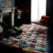 Deco Multi Striped Rug By Asiatic
