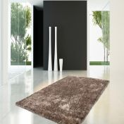 Diamond 700 Taupe Plain Shaggy Circle Rug by Unique Rugs