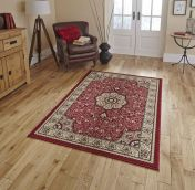 Diamond 4400 Red Traditional Rug By Think Rugs