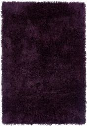 Diva Purple Shiny Polyester Rug by Asiatic