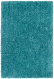 Diva Teal Shiny Polyester Rug by Asiatic