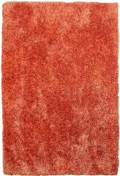 Diva Orange Shiny Polyester Rug by Asiatic