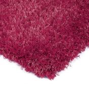 Diva Pink Shiny Polyester Rug By Asiatic