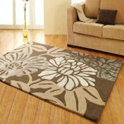 Unique Divine Abstract Floral Design Wool Rug by Prestige