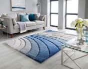 Dune Tidal Grey Blue Geometric Rug by Flair Rugs
