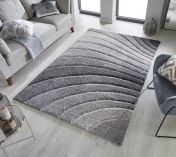 Dune Tidal Grey Geometric Rug by Flair Rugs