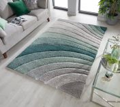 Dune Tidal Grey Green Geometric Rug by Flair Rugs