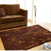 Unique Earth Abstract Design Wool Rug by Prestige