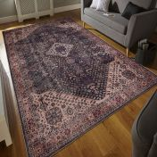 Easy Care Bjdiar Graphite Rug by Unique Rugs