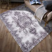 Easy Care Jasmine Light Grey Rug by Unique Rugs