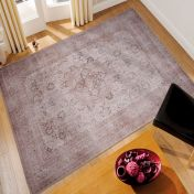 Easy Care Keshan Cream Rug by Unique Rugs