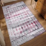 Easy Care Kilim Ivory Cherry Rug by Unique Rugs