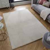 Echo Revel Cream Plain Rug by Flair Rugs