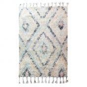 Eclectic Navajo Natural Blue Wool Luxmi Rug by Flair Rugs