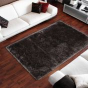 Ecuador Macas Graphite Plain Shaggy Rug by Unique Rugs