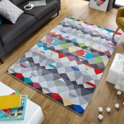 Electric Impulse Multi Abstract Rug by Flair Rugs