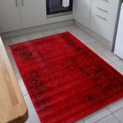 Element Bonetti Red Traditional Rug by Flair Rugs