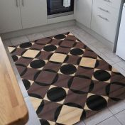 Element Carnaby Chocolate Geometric Rug by Flair Rugs