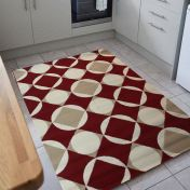 Element Carnaby Red Geometric Rug by Flair Rugs