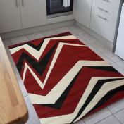 Element Shard Red Modern Rug by Flair Rugs