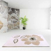 Elite Beige Floral Wool Rug By Ultimate Rug