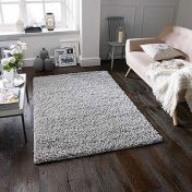 Elsa Grey Shaggy Rug by Oriental Weavers