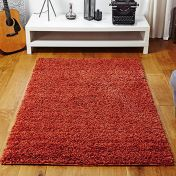 Elsa Orange Shaggy Rug By Oriental Weavers