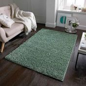 Elsa Sage Green Shaggy Rug by Oriental Weavers