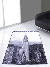Themed Poly Empire Black Graphics Modern Rug by Rug Style