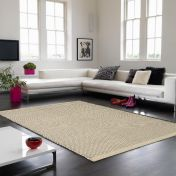 Enzo Cream Textured Plain Rug By Asiatic