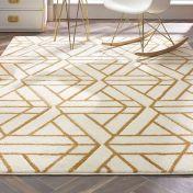 Escher Cream Gold Geometric Rug by Origins