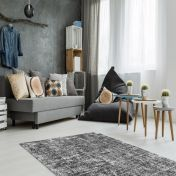 Etna 110 Anthracite Plain Modern Rug by Unique Rugs