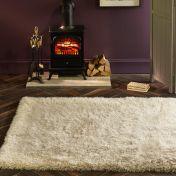 Extravagance Ivory Shaggy Rug by Origins