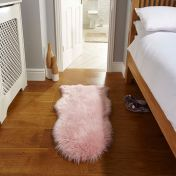 Faux Fur Sheepskin Pink Plain Shaggy Rug By Flair Rug